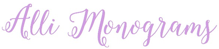 Alli Monograms - Custom Monograms, Decals & More!