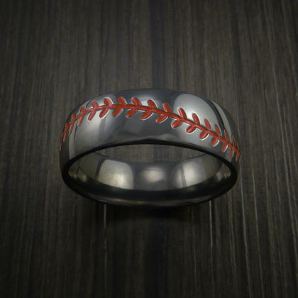 Black Zirconium Baseball Rings