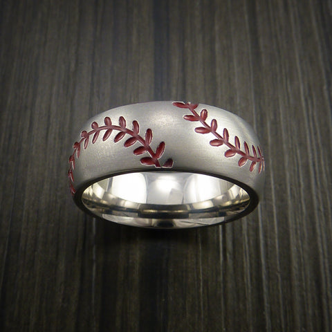 Baseball Wedding Rings and Bands by Revolution Jewelry Made in the USA