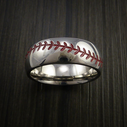 Cobalt Chrome Baseball Rings