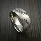 Cobalt Chrome Double Stitch Baseball Ring with Bead Blast Finish - Baseball Rings  - 12