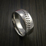 Cobalt Chrome Baseball Ring with Polish Finish - Baseball Rings  - 13