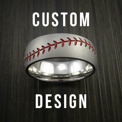 Custom Built Baseball Ring with Custom Stitching Color - Baseball Rings  - 1