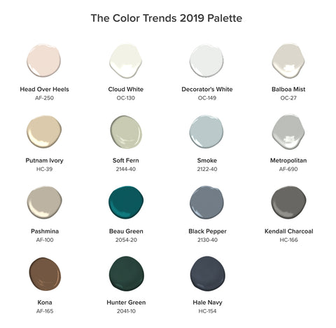 2019 Benjamin Moore Color Trends
