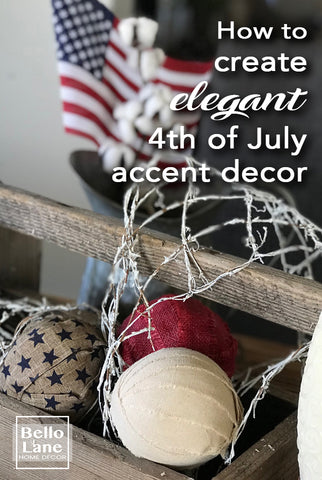 4th of July accent decor
