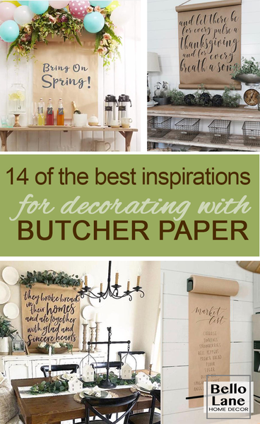 Butcher paper note hanging roll from bello lane home decor