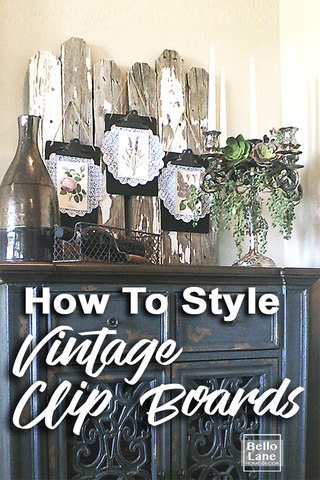 How to Style vintage clip boards from Bello Lane Home Decor