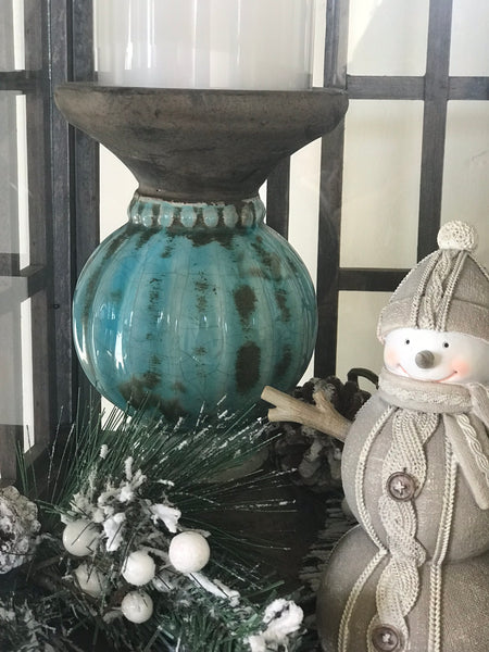 Winter Lantern Bello Lane Vignette Urban Farmhouse Decor