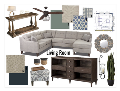Blaine Living Room Mood board from Bello Lane Decor and Design