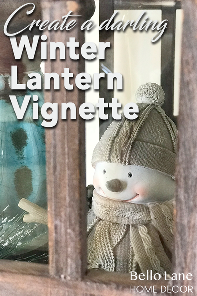 Bello Lane - Winter Lantern Vignette