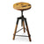 HINTON - RECLAIMED WOOD - REVOLVING BAR STOOL