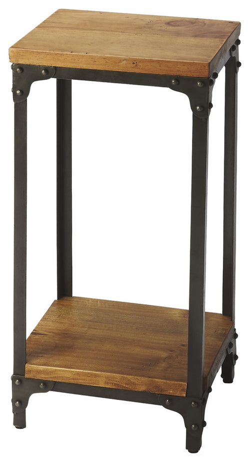 GRIMSLEY - IRON & WOOD - PEDESTAL STAND