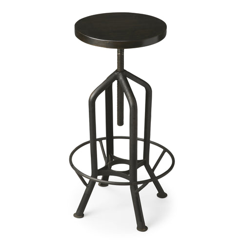 HAMPTON - IRON - REVOLVING BAR STOOL
