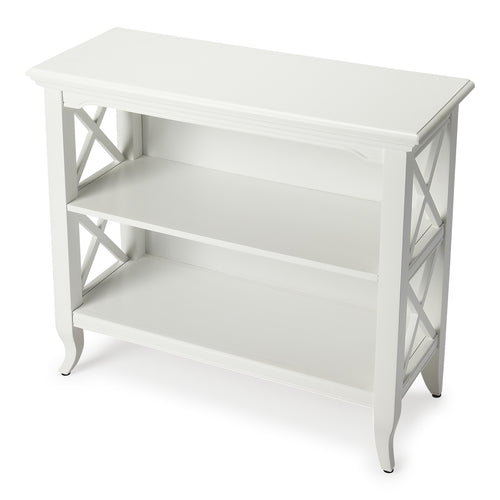 NEWPORT - GLOSSY WHITE - LOW BOOKCASE