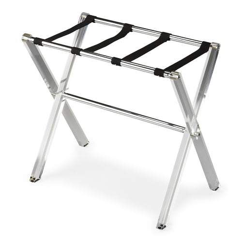 CRYSTAL CLEAR - ACRYLIC - LUGGAGE RACK