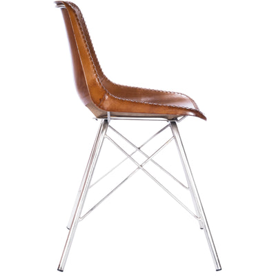 INLAND - LIGHT BROWN LEATHER - SIDE CHAIR