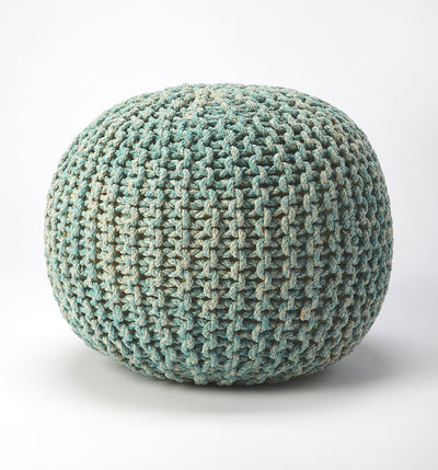 PINCUSHION - GREEN WOVEN - POUFFE