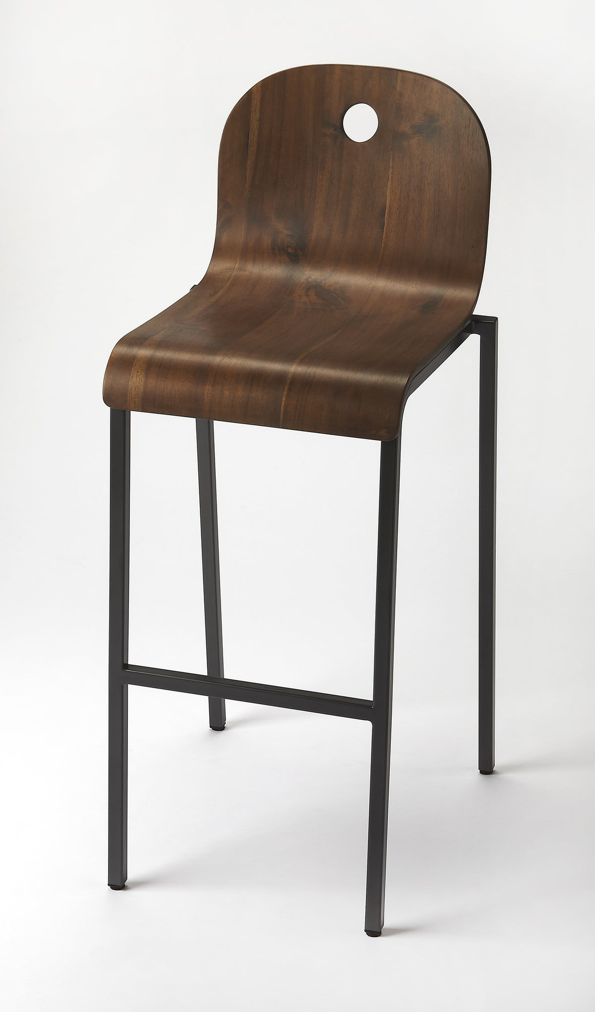 LUCROY - WALNUT - BAR STOOL