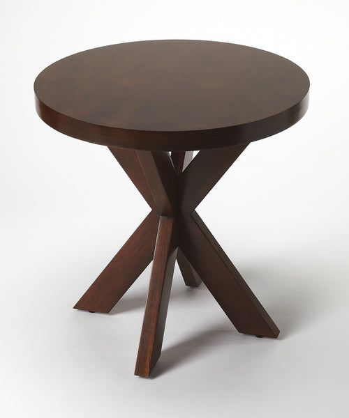PENDLETON - ROUND CHOCOLATE - END TABLE