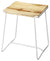 PARRISH - WOOD & WHITE METAL - COUNTER STOOL
