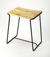 PARRISH - WOOD & BLACK  METAL - COUNTER STOOL