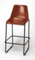 MYLES - LEATHER - BAR STOOL