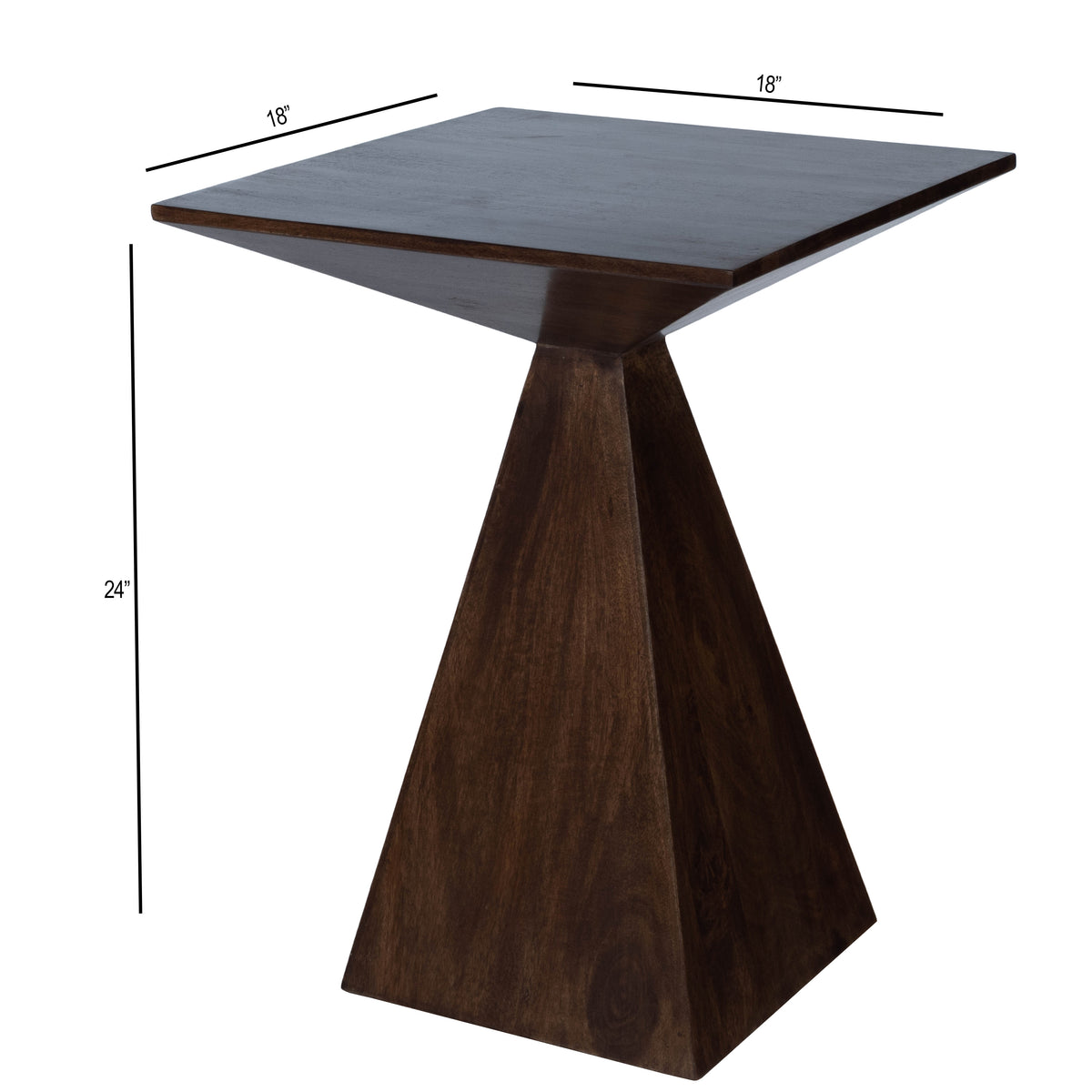TITUS - DARK BROWN MODERN - END TABLE