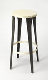 ULRICH - BLACK & WHITE BACKLESS - BAR STOOL