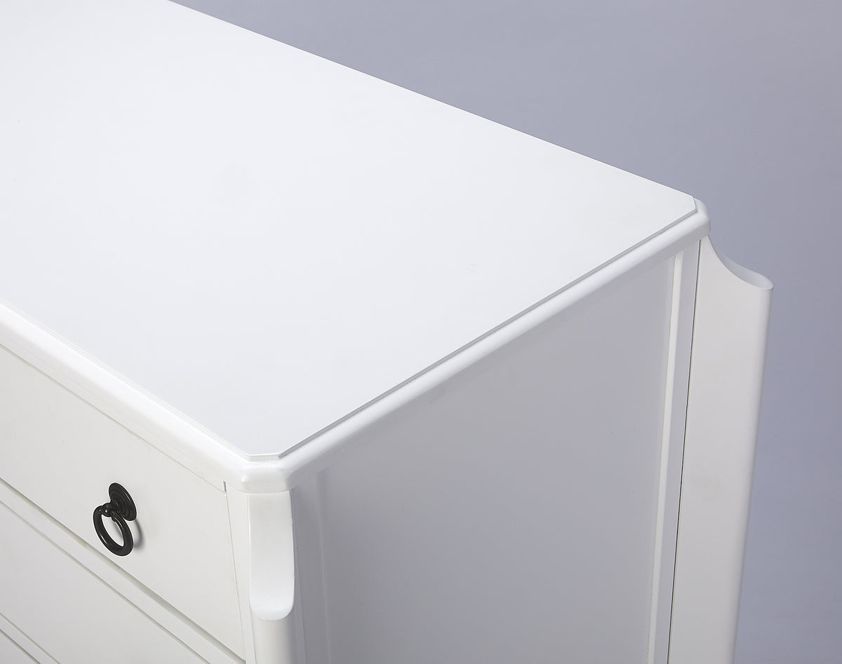 WILSHIRE - GLOSSY WHITE - ACCENT CHEST