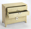 AMELLE - CREAM RAFFIA - 4 DRAWER ACCENT CHEST