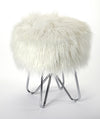EZRA - WHITE FAUX FUR - STOOL