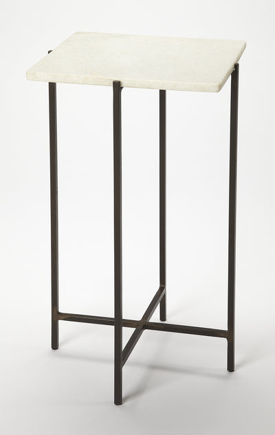 NIGELLA - SQUARE MARBLE & METAL - ACCENT TABLE