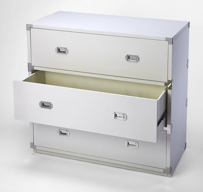 ANEW - WHITE - 3 DRAWER CAMPAIGN CHEST