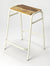 DAWSON - WHITE - COUNTER STOOL