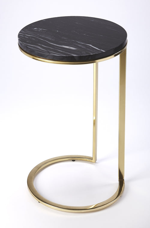 MARTEL - MARBLE & METAL - SIDE TABLE