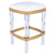 JORDAN - ACRYLIC & POLISHED BRASS - COUNTER STOOL