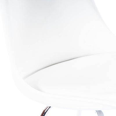 HORACE - SILVER & WHITE FAUX LEATHER - ACCENT CHAIR