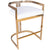 CLARENCE - GOLD & WHITE FAUX LEATHER - COUNTER STOOL