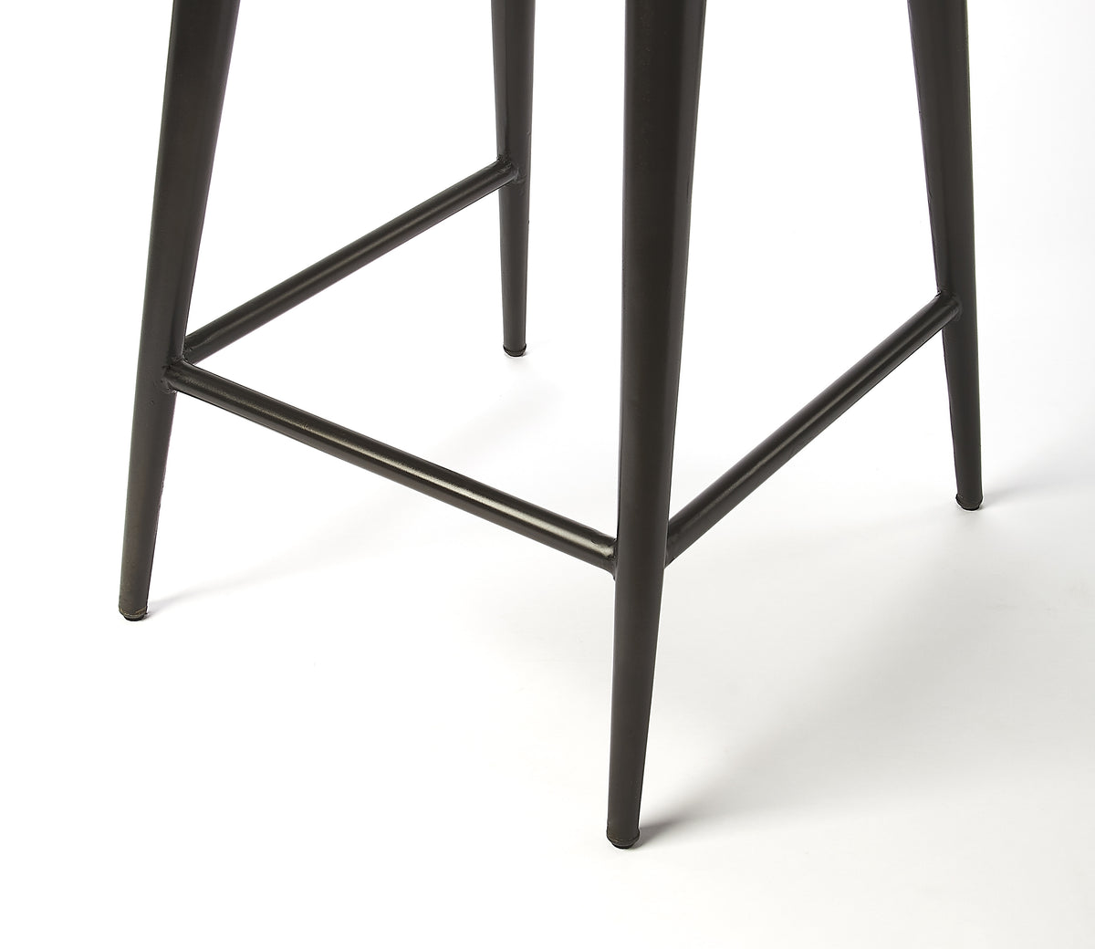 SADDLE - BROWN LEATHER - COUNTER STOOL