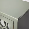 ELLENA - GRAY MIRRORED - 2 DOOR ACCENT CABINET