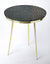 HOLLINGS - GREEN MARBLE & BRASS - ACCENT TABLE