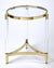 CHARLENE - ACRYLIC & GOLD - ROUND END TABLE