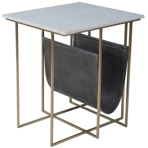 STEPHANIK - MARBLE & LEATHER - MAGAZINE TABLE