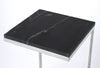 LAWLER - NICKEL METAL & BLACK MARBLE - END TABLE