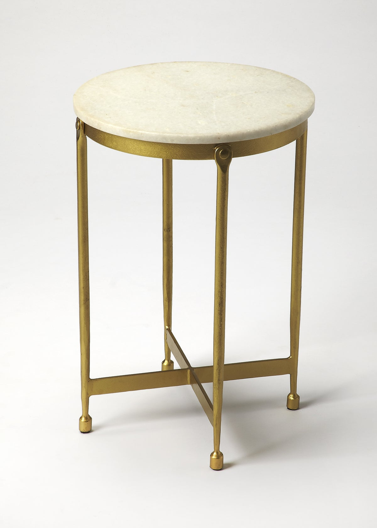 CLAYPOOL - WHITE MARBLE - END TABLE