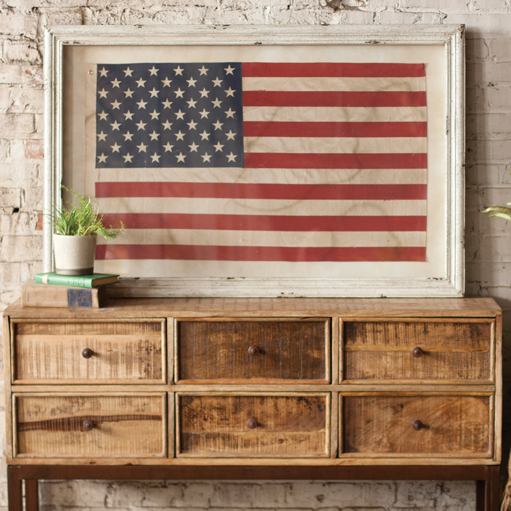 American Flag Framed