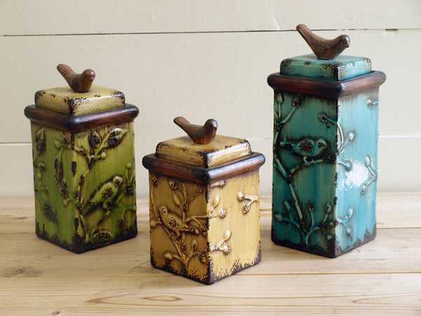 Song Bird Boxes set of 3