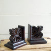 Carved Wood Bookend