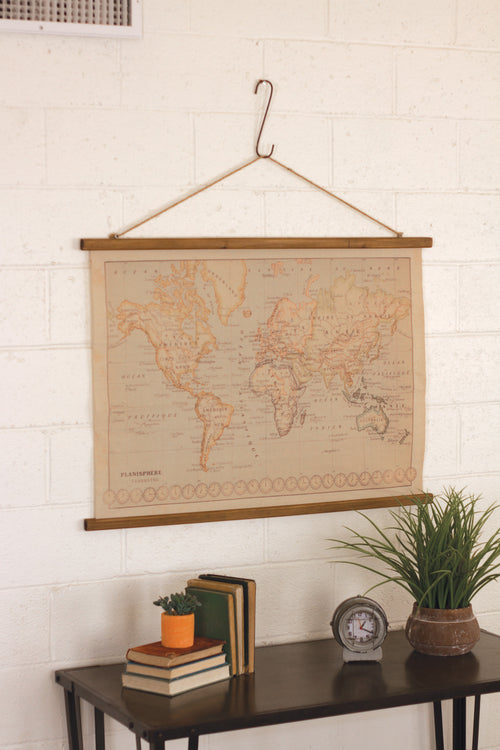 VINTAGE WORLD MAP - Bello Lane