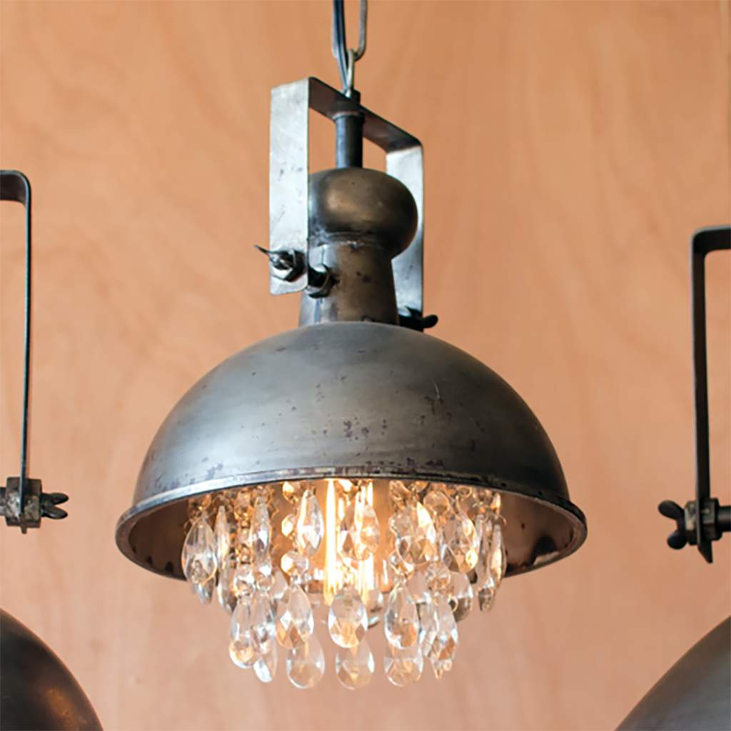 Hood Pendant Light with Gems - Bello Lane